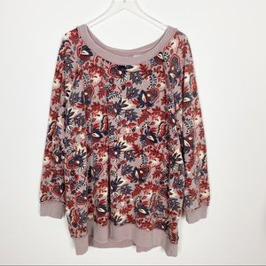 Free people go on get floral pullover sweatshirt